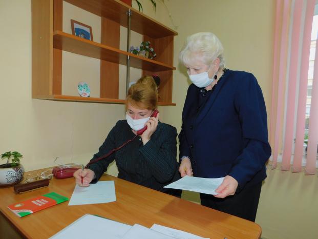 Работа в Полоцкой районной общественной приемной 26 ноября 2020 г.
