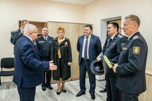 Участие 17 сентября 2021 года в торжественной церемонии открытия после реконструкции здания отдела ГАИ Полоцкого РОВД