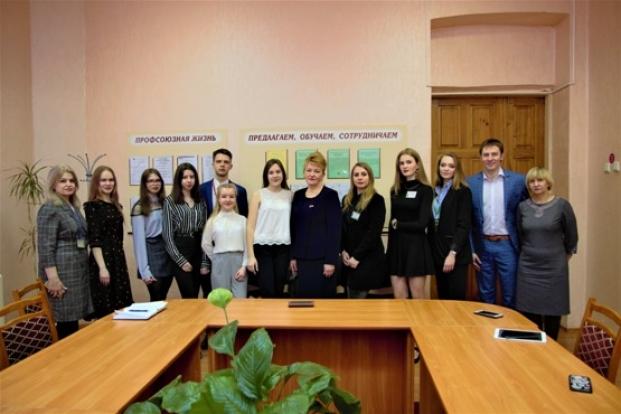 Встреча с творческим коллективом студенческого телеканала «Первый Лесной»  20 марта 2020 г.