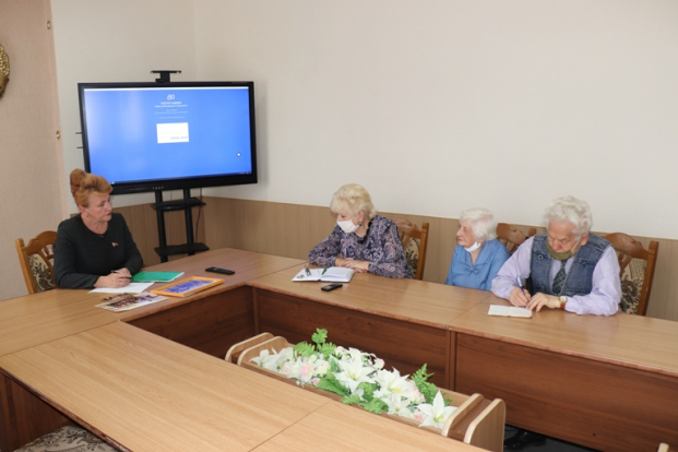Встреча с активом Полоцкой районной ветеранской организации  28 июля 2020 г.