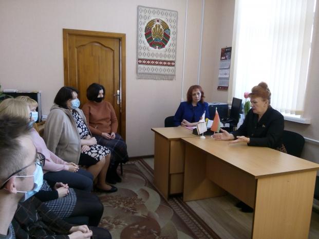 Встреча с трудовым коллективом отдела статистики Полоцкого района 9 марта 2021 года