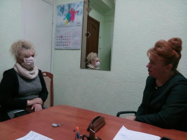 Встреча с председателем Полоцкой районной организации Белорусского Общества Красного Креста Н.А.Букой 6 января 2021 г.
