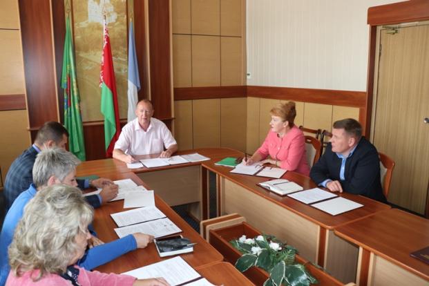 Участие в заседании президиума Полоцкого районного Совета депутатов 23 июля 2020 г.