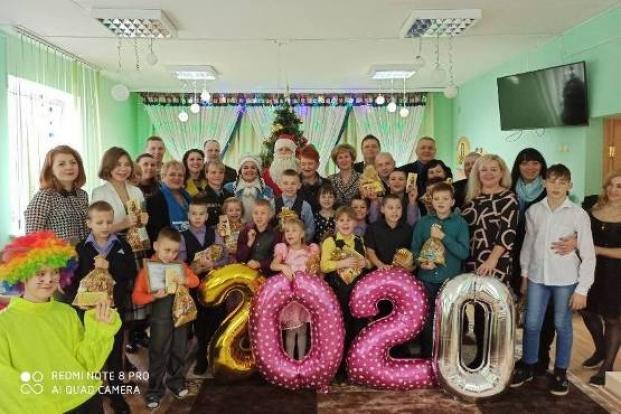 Участие в новогоднем празднике для воспитанников социально-педагогического центра Полоцкого района