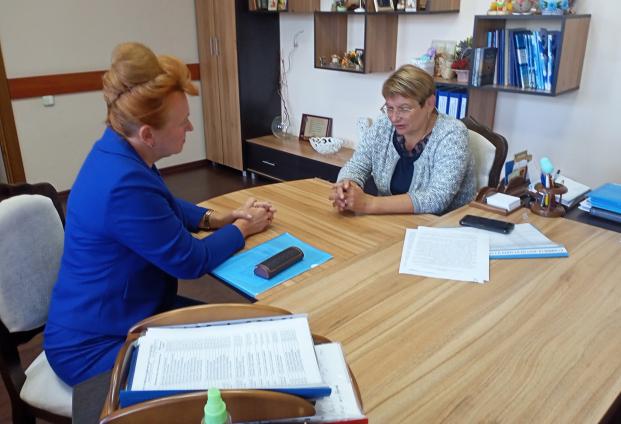 Работа 25 августа 2021 года с начальником управления по образованию Полоцкого райисполкома И.А.Дроздовой по готовности учреждений образования к началу нового учебного года