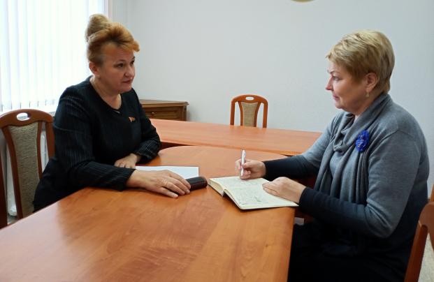 Встреча 21 сентября 2021 года с председателем Полоцкой районной организации ОО «Белорусский союз женщин» А.П. Щукиной