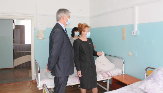 Посещение городской больницы № 1 21 апреля 2021 года