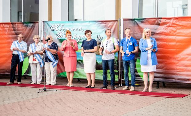 Приветствие участников проекта «Республиканский молодежный поезд «#Беларусь. Молодежь. Единство» 16 июля 2021 года