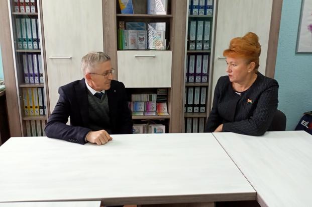 Встреча 21 сентября 2021 года с председателем Полоцкой районной организации ОО «Белорусский фонд мира» А.В.Фоминым